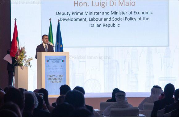 The UAE's Minister of Economy Welcomes Italy's Deputy Prime Minister During Italy-UAE Business Forum