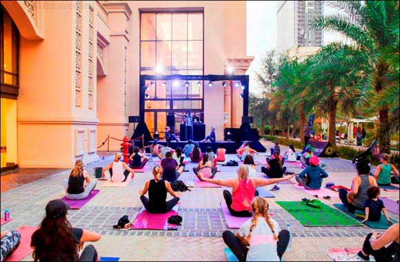 Move to the rhythm of live handpan music at Golden Mile Galleria's third Run & Flo free fitness event