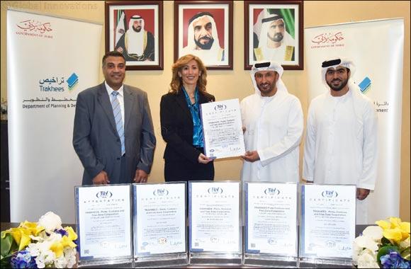 Trakhees receives 5 ISO certificates