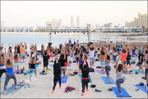 Keeping fit this summer is fun with Club Vista Mare's Core Beats free beach yoga and fitness concert