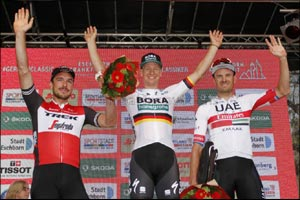 Double Podium Day for Uae Team Emirates as Kristoff and Costa Place Third in Frankfurt and Romandie