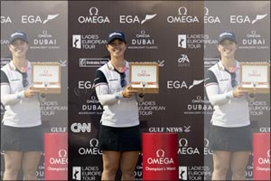 Nuria Iturrios wins the inaugural 2019 OMEGA Dubai Moonlight Classic