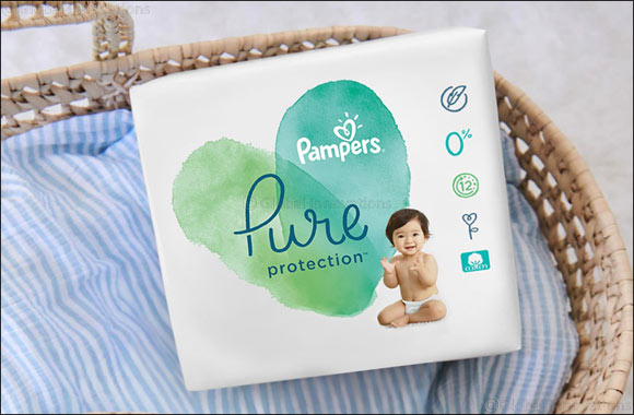 New Pampers Pure Protection Diapers contains Premium cotton and plant-based materials  to give your baby comfortable protection