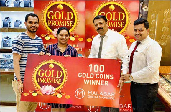 Over 60,000 Gold coins Won from Malabar Gold & Diamonds Gold Promise offers