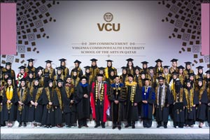 VCUarts Qatar's Graduates Step Into the Future at 2019 Commencement
