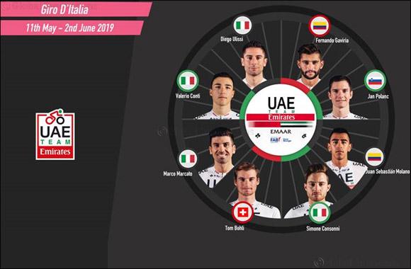 Gaviria Tops Uae Team Emirates' Line-up at the Giro