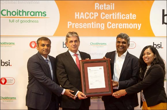 UAE's leading supermarket chain Choithrams gets BSI's HACCP certification