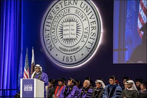 One of NU-Q's first graduates speaks at this year's graduation