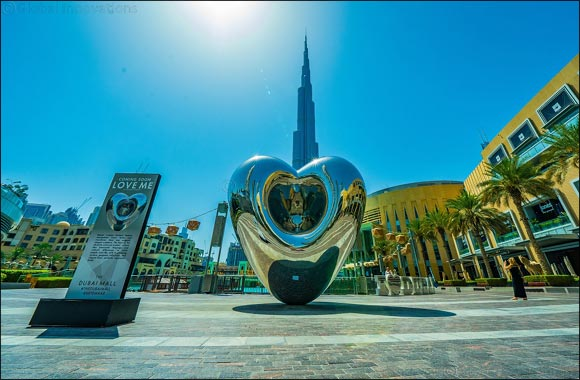 Huge version of 'LOVE ME' heart sculpture unveiled in Downtown Dubai