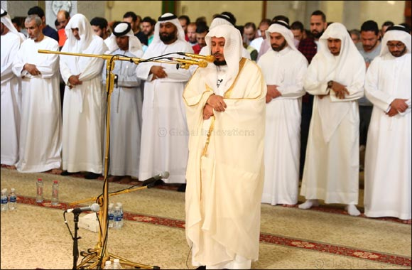 6,000 worshippers prayed with Sheikh Saad bin Said Al-Ghamdi at Grand Mosque of Rashidiya in Dubai