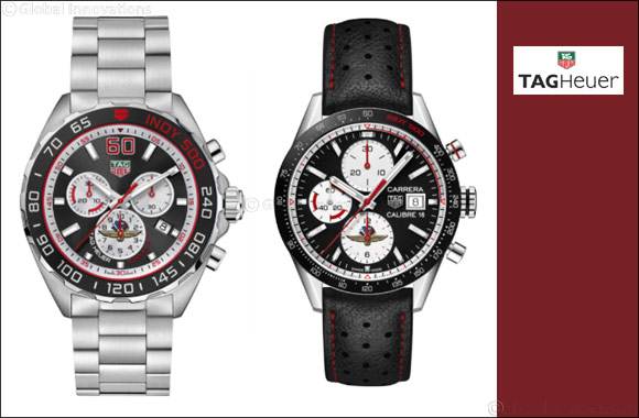 TAG Heuer launches 2 special editions to commemorate Indy 500 race - Carrera and Formula 1