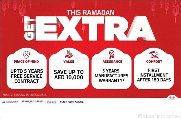 This Ramadan 'Get Extra' on all 2019 Kia vehicles from Al Majid Motors
