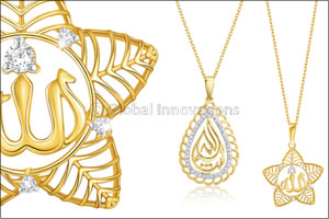 Pure Gold Jewellers launches Arabic calligraphy diamond pendants for Eid