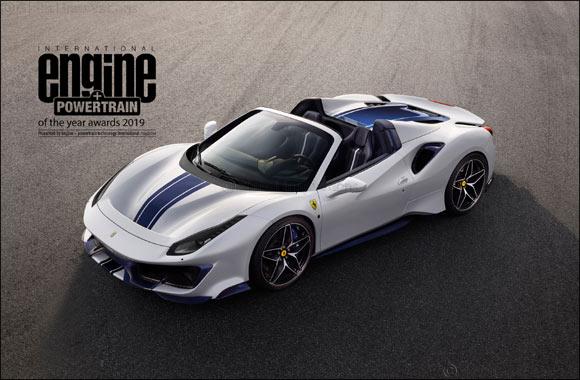 Ferrari's V8 takes its fourth consecutive  International Engine & Powertrain of the Year award