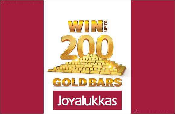 Win upto 200 Gold Bars this summer @ Joyalukkas