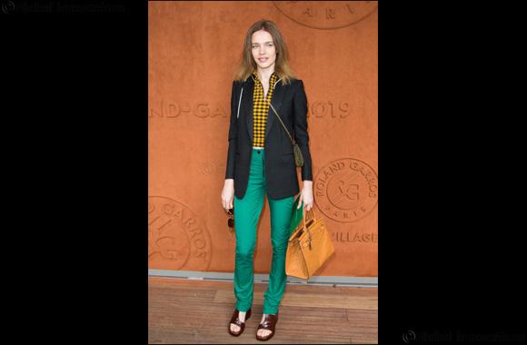 Natalia Vodianova wears RL50 Bag