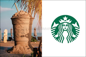 Starbucks carves out giant sand sculpture at La Mer