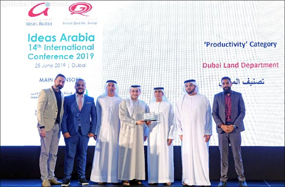 Dubai Land Department wins of 'Ideas Arabia 2019' award in Productivity category