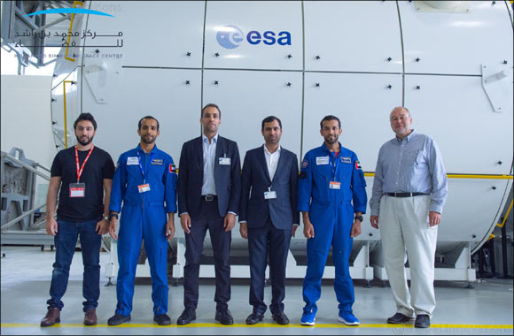 Hazzaa AlMansoori & Sultan AlNeyadi train at European Astronaut Centre in Germany