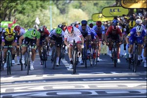 UAE Team Emirates Opens Its Account at the Tour De France With a Second Place Finish in Stage Four