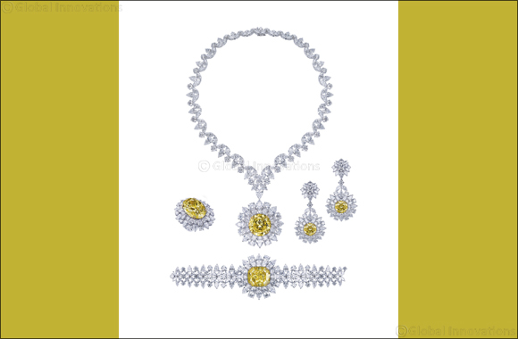 Mouawad unveils the Mouawad Dragon Yellow and White Diamond Suite, featuring the largest round brilliant vivid yellow diamond in the world