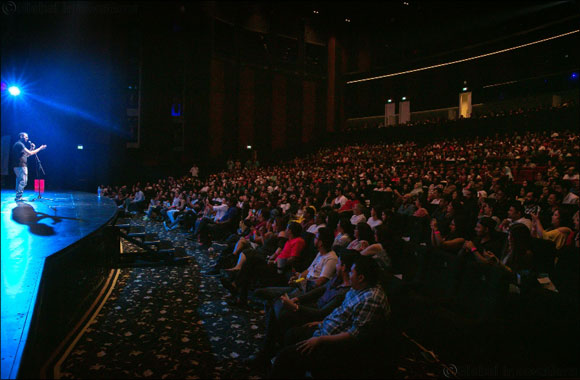 Leading Indian stand-up comedian Kunal Kamra performs to a packed house at BOLLYWOOD PARKS™ Dubai
