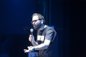 Leading Indian stand-up comedian Kunal Kamra performs to a packed house at BOLLYWOOD PARKS� Dubai