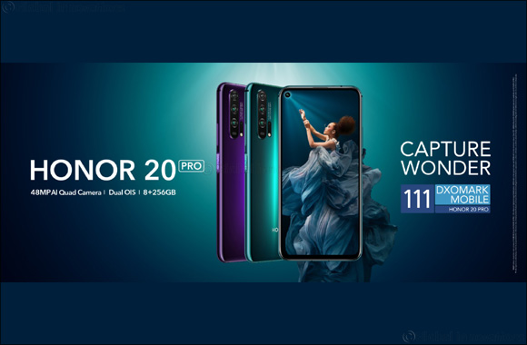 HONOR 20 PRO ranks no. 2 in the world with a score of 111 DxOMark