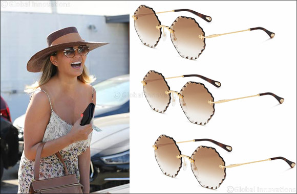 Chrissy Teigen Wears Chloé Sunglasses
