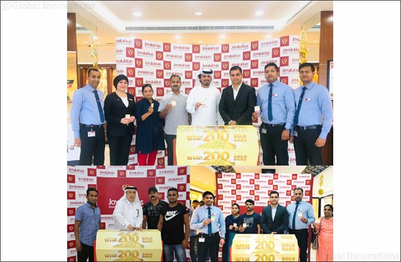 Joyalukkas brings joy to hundreds around the world with gold bar giveaway this summer