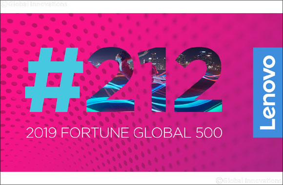 Lenovo Jumps 28 Spots on 2019 'FORTUNE Global 500' List