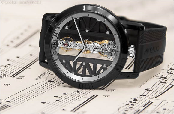 Corum Golden Bridge Titane DLC - black beauty for the man of style