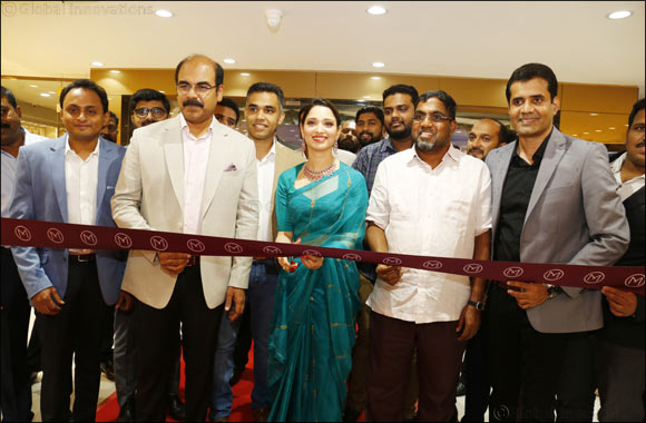 Indian Film Actress Tamannaah Bhatia inaugurated 26th showroom of Malabar Gold & Diamonds in Karnataka, India at Bannerghatta Road, Bengaluru