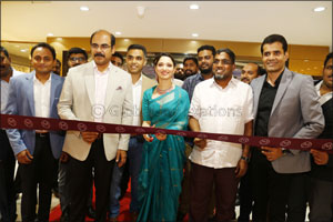 Indian Film Actress Tamannaah Bhatia inaugurated 26th showroom of Malabar Gold & Diamonds in Karnata ...