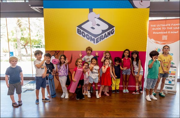 Mums and kids enjoy a barrel of laughs with Boomerang MENA's first laughter yoga session in the UAE