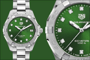 Tag Heuer Launches First Ever Emerald Green Dial Aquaracer (for Men & Women) in the UAE