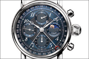Chronoswiss adds beauty in blue to Sirius Chronograph Moon Phase collection