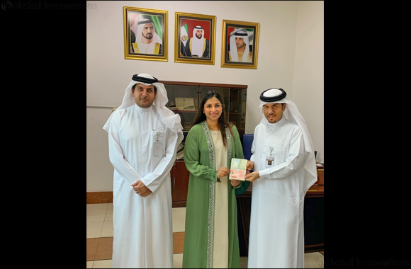 Alisha Moopen, Deputy Managing Director of Aster DM Healthcare receives 10-year Permanent Residency Gold Card from the UAE government