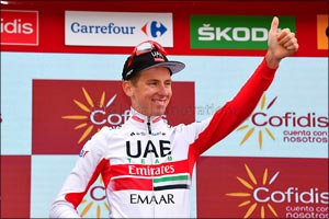 Pogacar Wins His Third Stage and Rides Onto the Podium in the General Classificaton at La Vuelta