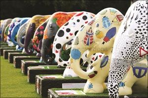Global Social Enterprise �Elephant Parade' Exhibits in the Middle East for the First Time