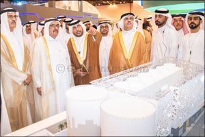 His Highness Sheikh Hamdan bin Rashid Al Maktoum visits Empower stand at WETEX 2019 and views the wo ...