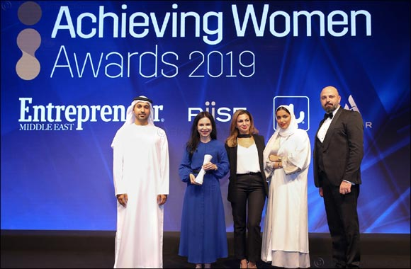 Dubai Startup Hub honoured at Achieving Women Awards 2019