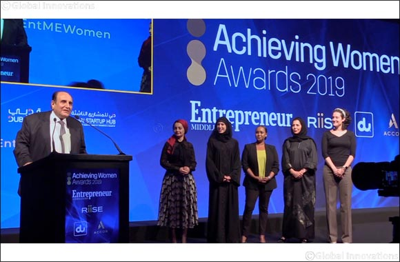 "du Women Council Awarded for Women Empowerment at the Prestigious RiiSE and Entrepreneur Middle East's Forum ""Achieving Women Awards 2019"""