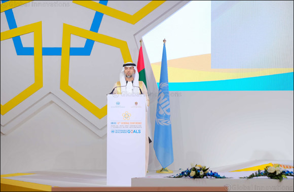 UAE's Minister Al Mazrouei Announced President of the Unido General Conference in Abu Dhabi