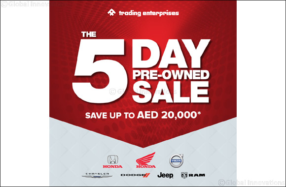 Trading Enterprises showrooms to host exclusive 5-day sale on pre-owned vehicles