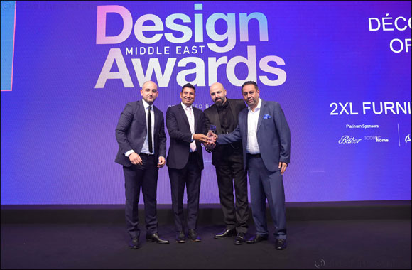 2XL Furniture & Home Décor Wins 'Décor Retailer of the Year' Trophy at Design Middle East Awards 2019