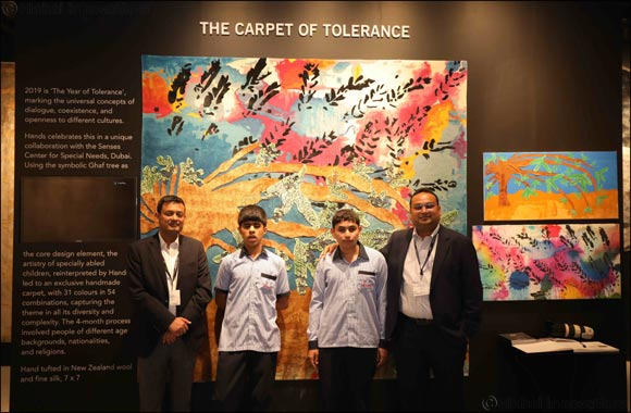 'Carpet of Tolerance' created by Hands and Senses revealed at Downtown Design, Dubai