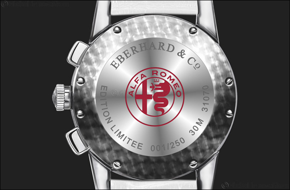 "Eberhard & Co. and the new  ""Quadrifoglio Verde"" chronograph, dedicated to the prestigious Alfa Romeo emblem."
