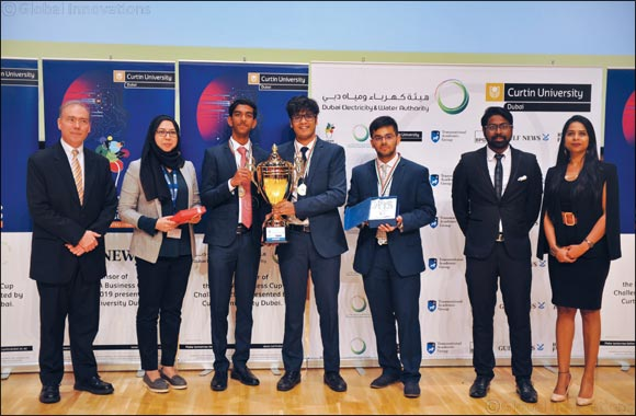 Students from GEMS Wellington International School outshine 1200 others at the DEWA Business Cup Challenge 2019