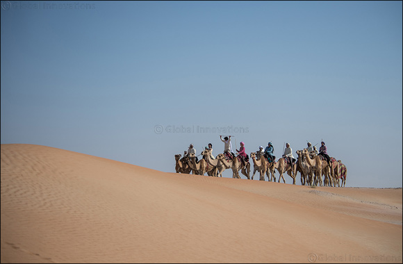 Emiratis and expats set off to a two-week Camel Trek across the UAE desert